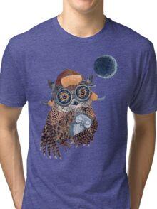 Owl mother Tri-blend T-Shirt