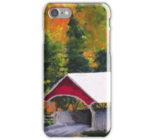 Fall Covered Bridge iPhone Case/Skin