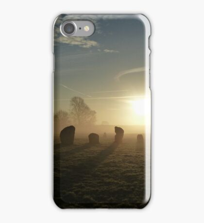 Avebury Sunrise Shadows (1) iPhone Case/Skin