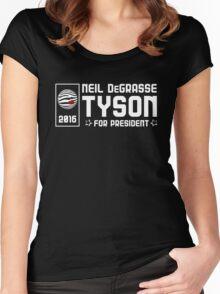Neil DeGrasse Tyson for President 2016 Women's Fitted Scoop T-Shirt