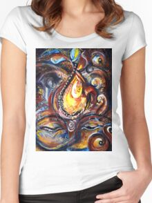 THIRD EYE - ABSTRACT Women's Fitted Scoop T-Shirt