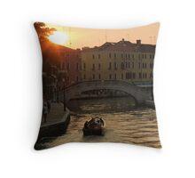 Sunset in Venezia Throw Pillow
