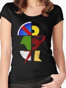 YJ Emblem Women's Fitted Scoop T-Shirt