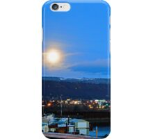 Moonset over Columbia River iPhone Case/Skin