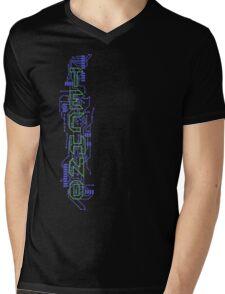 Techno Circuits Mens V-Neck T-Shirt