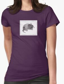 Graphic Armadillo Womens Fitted T-Shirt