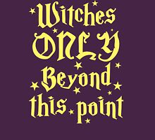Witches only beyond this point Womens Fitted T-Shirt