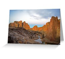 Smith Rock at Sunrise Greeting Card