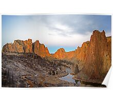 Smith Rock at Sunrise Poster