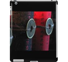 Black and Red Asian wishes iPad Case/Skin