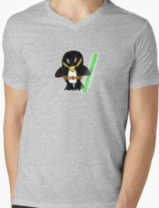 Jedi Penguin Mens V-Neck T-Shirt