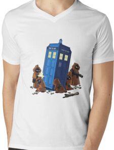 cartoon Mens V-Neck T-Shirt