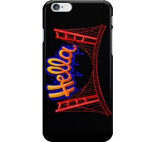 Hella - SF [Blue] iPhone Case/Skin