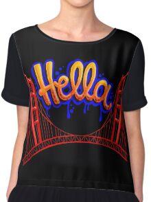 Hella - SF [Blue] Chiffon Top