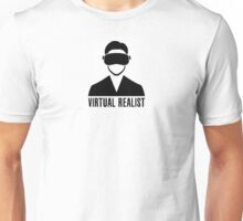 Virtual Realist - Black Clean Unisex T-Shirt