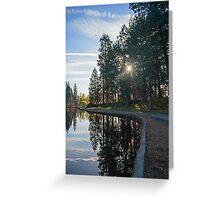 Drake Park Reflections at Sunrise II Greeting Card