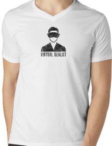 Virtual Realist - Black Dirty Mens V-Neck T-Shirt