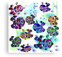 Fun, Colorful Fish Canvas Print