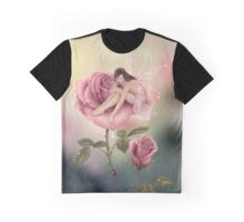 Rose Flower Fairy Graphic T-Shirt