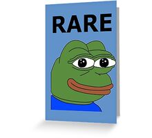 Ultra RARE pepe Greeting Card