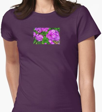 PURPLE GERANIUMS  Womens Fitted T-Shirt