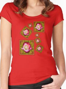 Red Rose Stickers and Things Women's Fitted Scoop T-Shirt