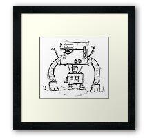 ALT the robot Framed Print