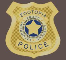 ZPD Zootopia Badge Baby Tee