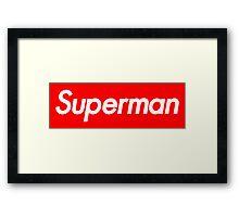 Supreme Superman Framed Print