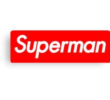 Supreme Superman Canvas Print