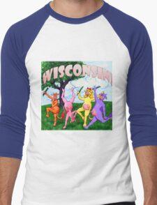 Colorful Wisconsin Cows Men's Baseball ¾ T-Shirt