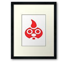 Red E. Gadd Logo - Super Mario Sunshine Framed Print