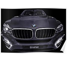 BMW dark grey Poster