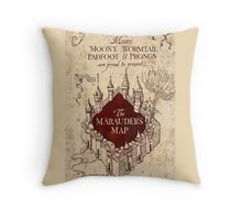 the marauders map77 Throw Pillow