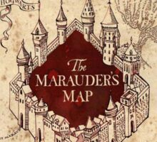 the marauders map77 Sticker