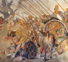 Battle of Alexander the Great and Darius III mosaic  Sticker