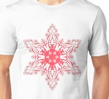 Red Snowflake Unisex T-Shirt