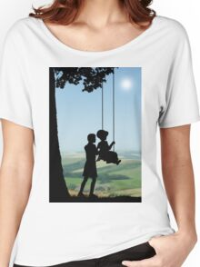 Childhood Dreams, Push Me Women's Relaxed Fit T-Shirt