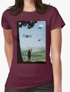 Childhood Dreams - The Flypast Womens Fitted T-Shirt
