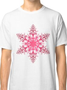 Red Snowflake Classic T-Shirt
