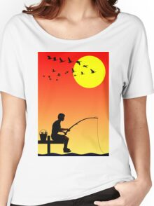 Childhood dreams, Fishing Women's Relaxed Fit T-Shirt