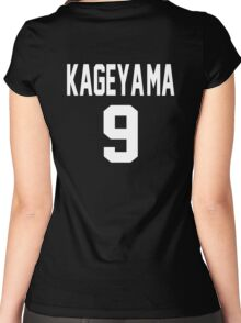 Haikyuu!! Jersey Kageyama Number 9 (Karasuno) Women's Fitted Scoop T-Shirt