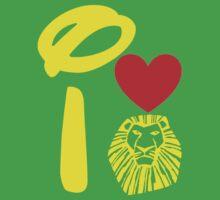 I Heart The Lion King (Gold) Kids Tee