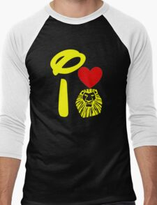 I Heart The Lion King (Gold) Men's Baseball ¾ T-Shirt