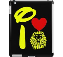 I Heart The Lion King (Gold) iPad Case/Skin