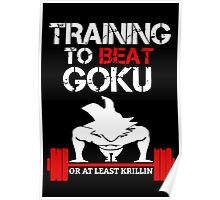 Training To Beat Goku Or At Least Krillin Poster