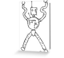 CONTROL the robot Greeting Card