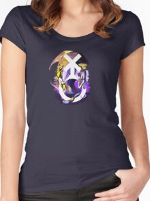 Non-Binary Pride Dragon Women's Fitted Scoop T-Shirt