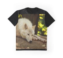 Arctic Wolf: Contemplative Graphic T-Shirt