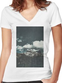 majestic mountain Women's Fitted V-Neck T-Shirt